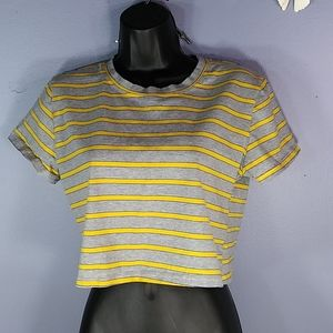 YIDAO XL STRIPED CROP TOP